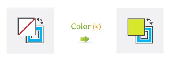 Color (<)