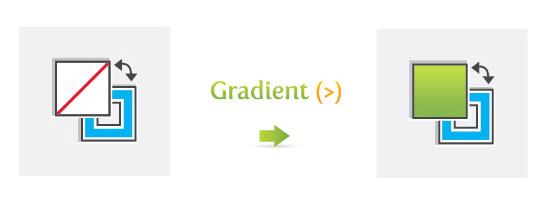 Gradient (>)