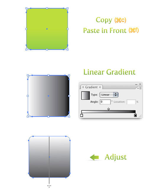 Copy, Paste, and Create Gradient