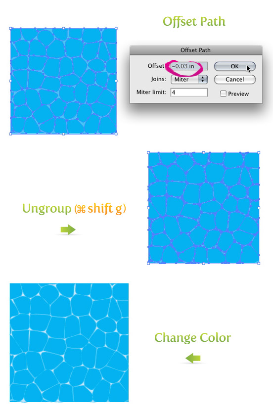 Create A Water Texture Vector! - Vectips
