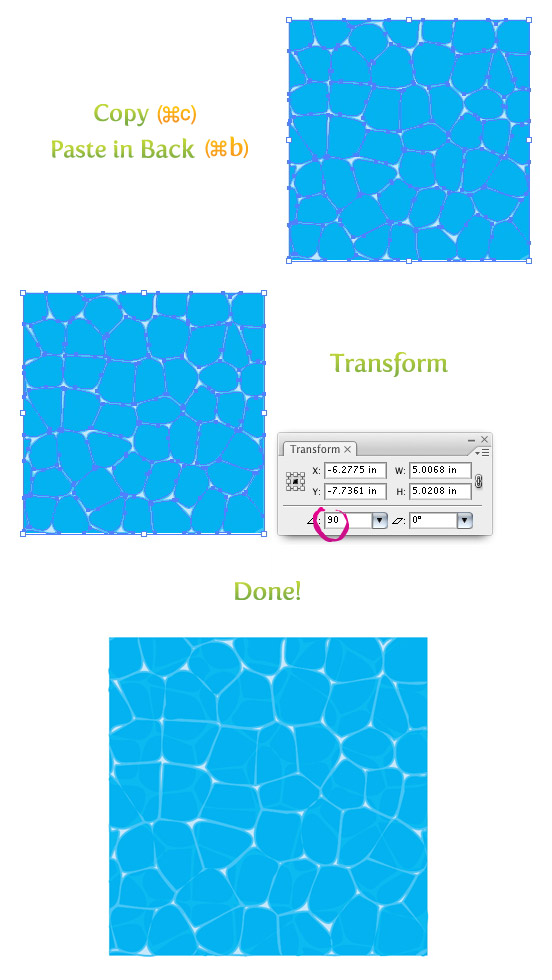 Create a water texture vector vectips How to draw swimming pool water