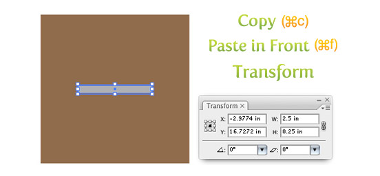 Copy, Paste, and Transform