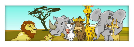 Free Vector African Animals Set