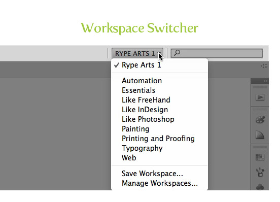 Workspace Switcher and Application Bar