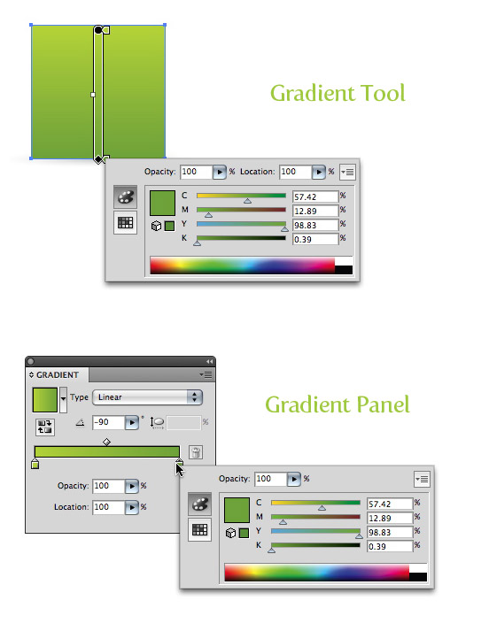Expanded Gradients Panel and Tool