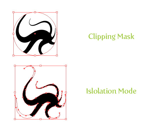 Clipping Masks with clear simplified appearance and access