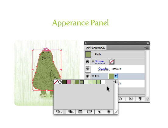 Updated Appearance Panel