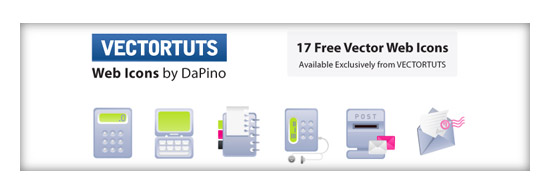 VECTORTUTS Freebie: 17 Exclusive Web Icons