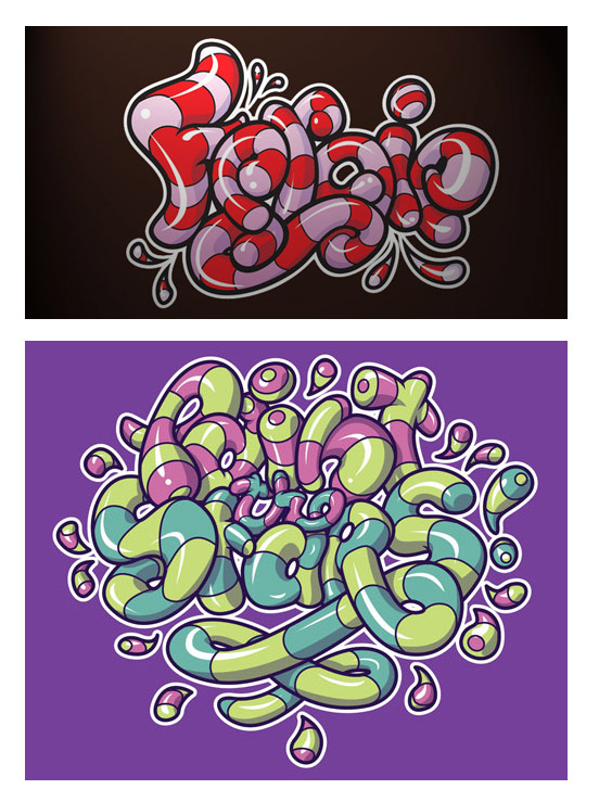 From the Portfolio: Candy Lettering