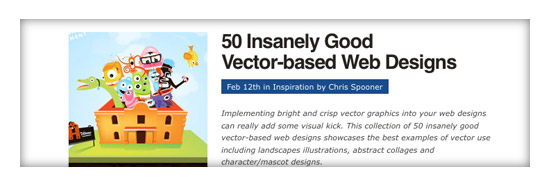 50 Insanely Good Vector-based Web Designs