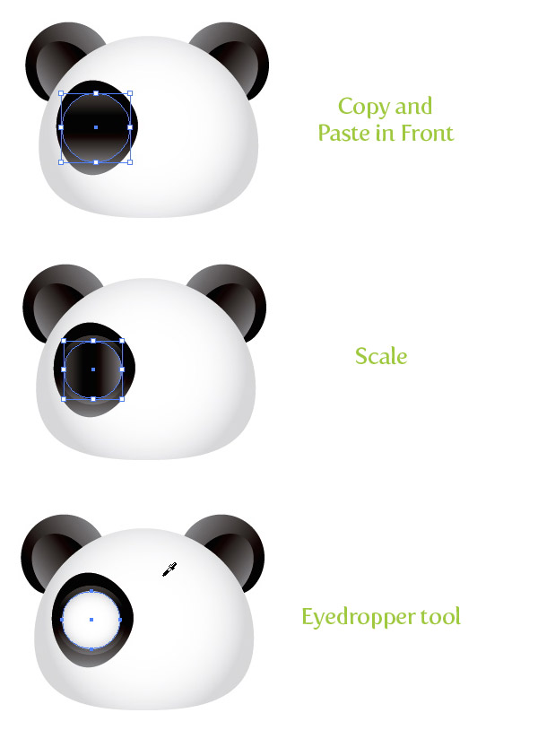 Create A Cute Panda Bear Face Icon Vectips