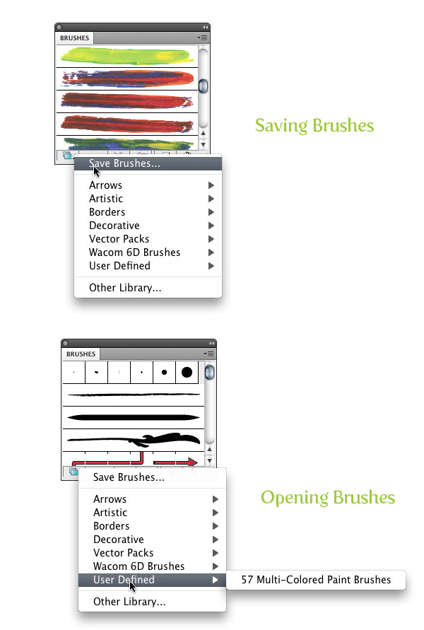 Saving Brushes