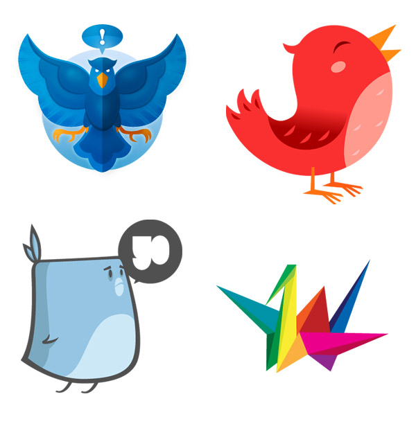The Social Bird icon set - The First Inspired Release