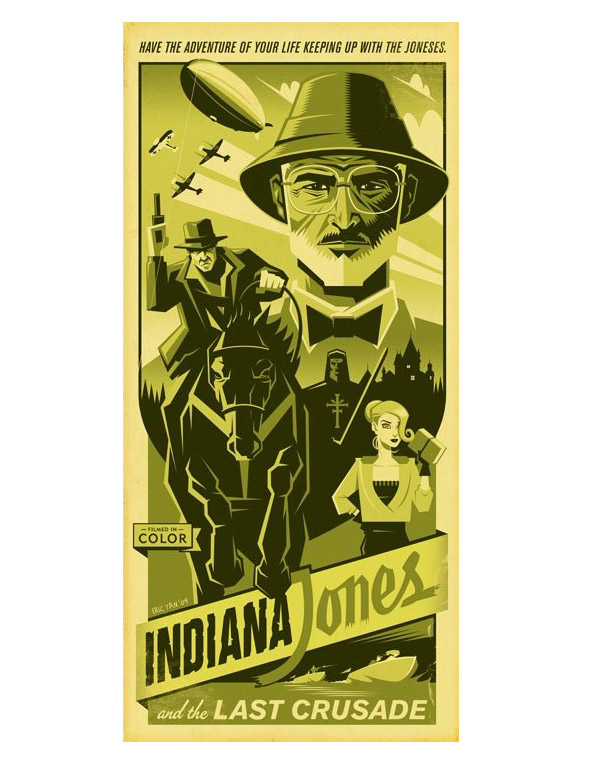 Cool Stuff: Eric Tan's Indiana Jones and the Last Crusade Poster