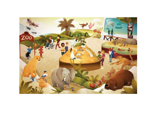 Illustration for Pearson science zoo