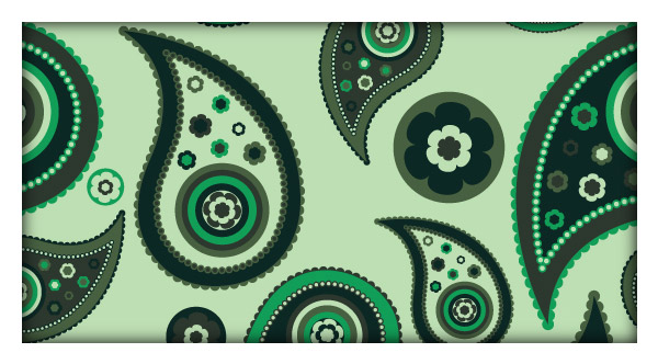 How to create a paisley seamless vector pattern