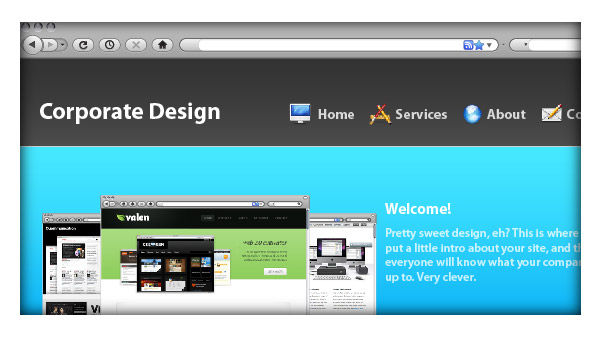 Design a Clean Corporate Website With Illustrator