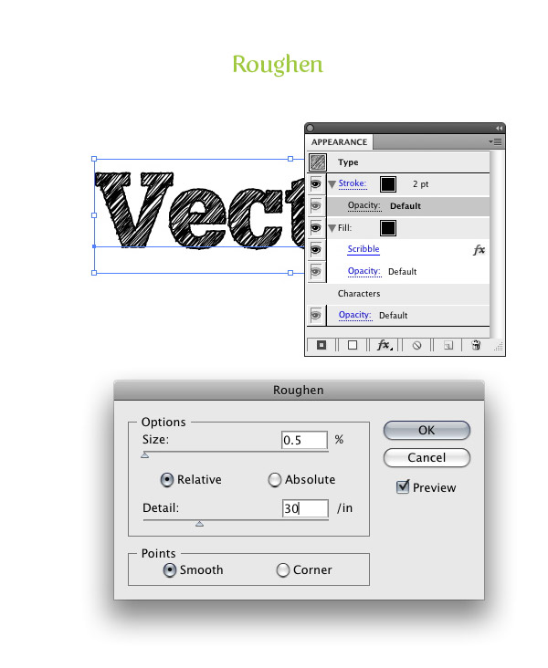 Turn Any Font Into a Sketch Font - Vectips