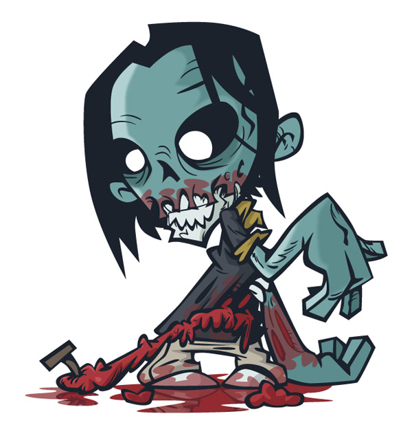 How to Create a Stinking Zombie Flesh-Eater in Illustrator by Nik Holmes