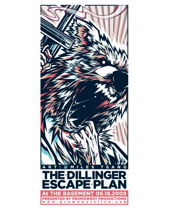 Gig Poster - The Dillinger Escape Plan @ The Basement by Nirazilla