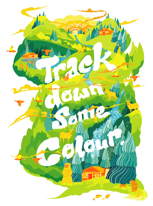 Track Down Some Colour art print by bentheillustrator