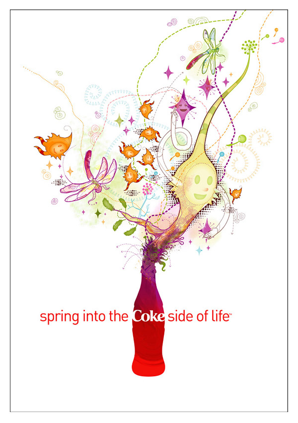 Spring Into the Coke Side of Life by Huan Tran