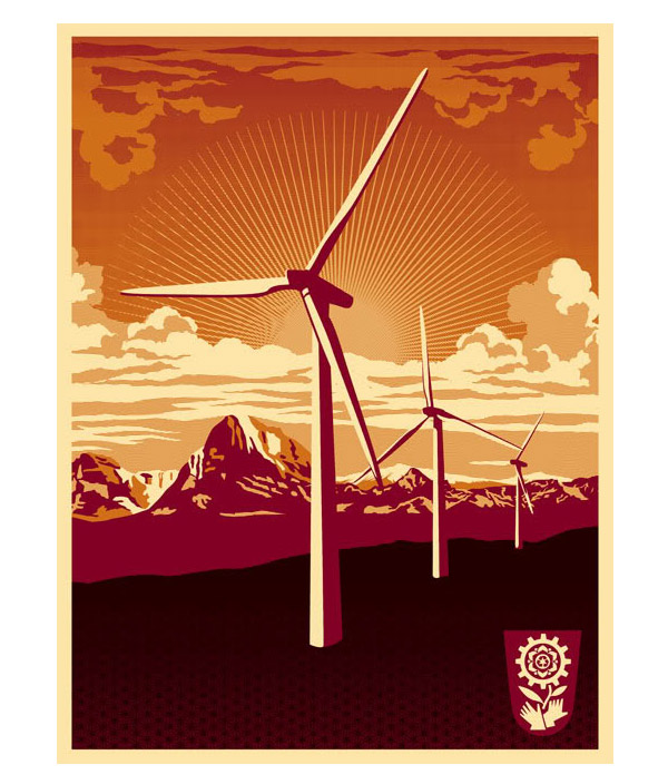 Obey Windmill Art Print by Shepard Fairey