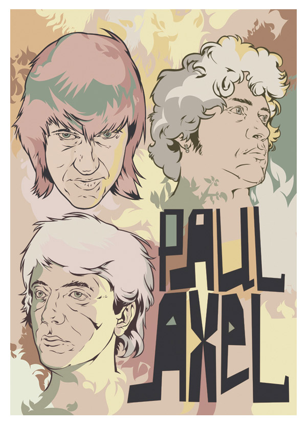 """poster for band """"paul axel"""" by andrey smirny"""
