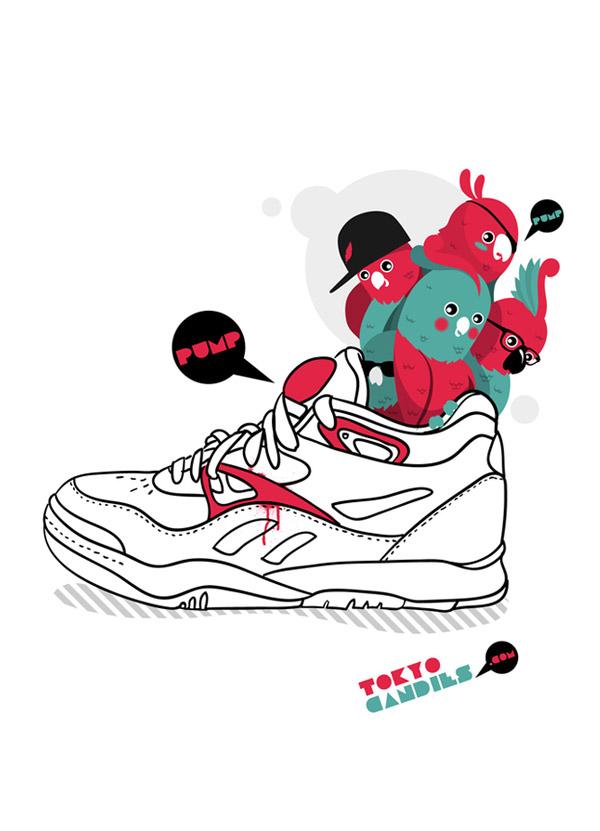 I art sneakers by Rubens Cantuni