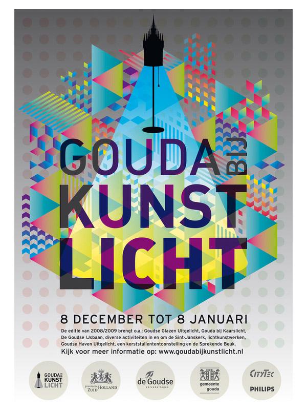 Gouda bij kunslicht - festival identity by Trapped in Suburbia