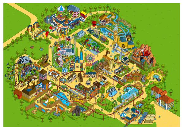 Theme Park Map 2009