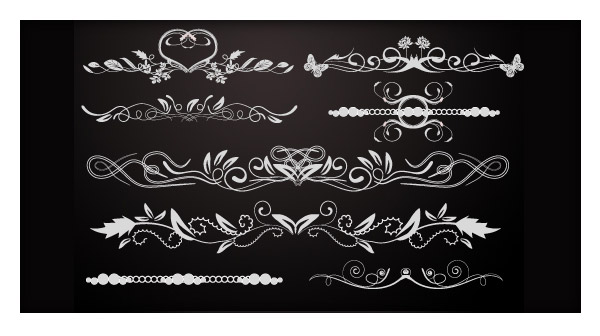 Vector Freebies: 12 Floral Borders & Dividers