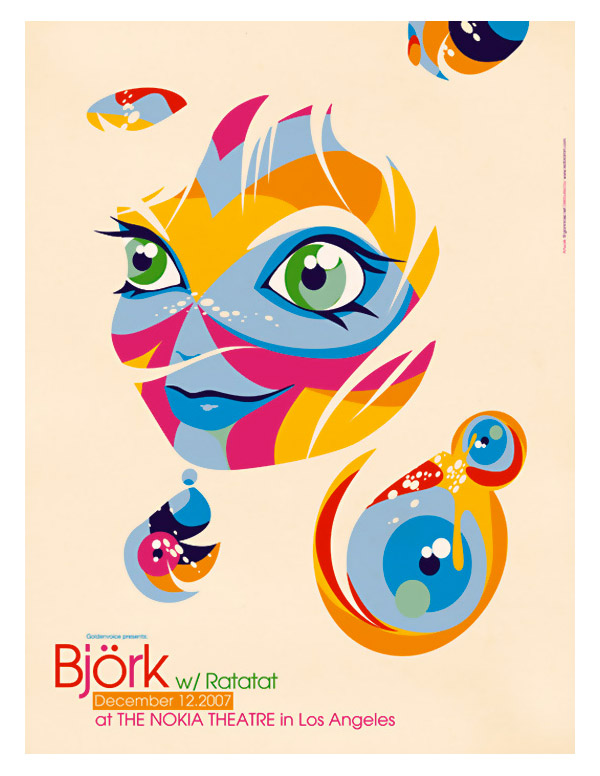 Bjork Poster by Gianni Rossi