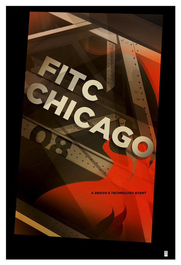FITC Chicago Poster by RON GERVAIS