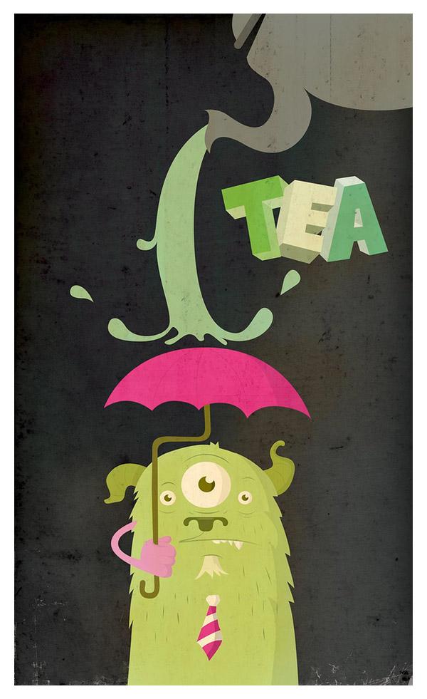 The Shower Tea Monster by Juan Molinet