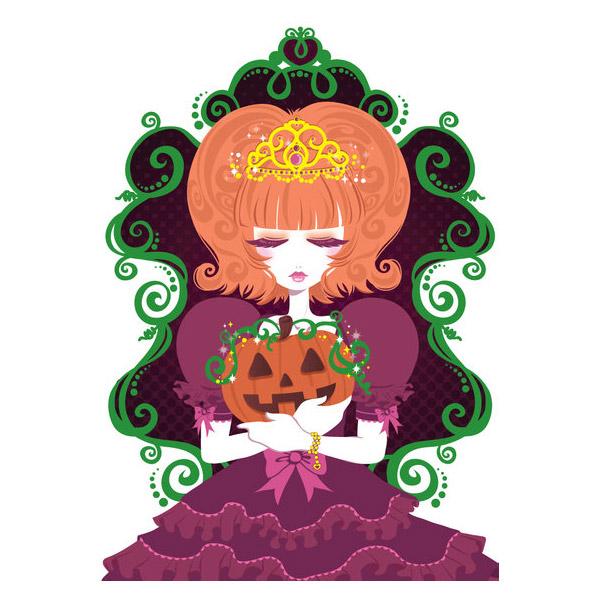 Pumpkin Princess- Print by =Blush-Art