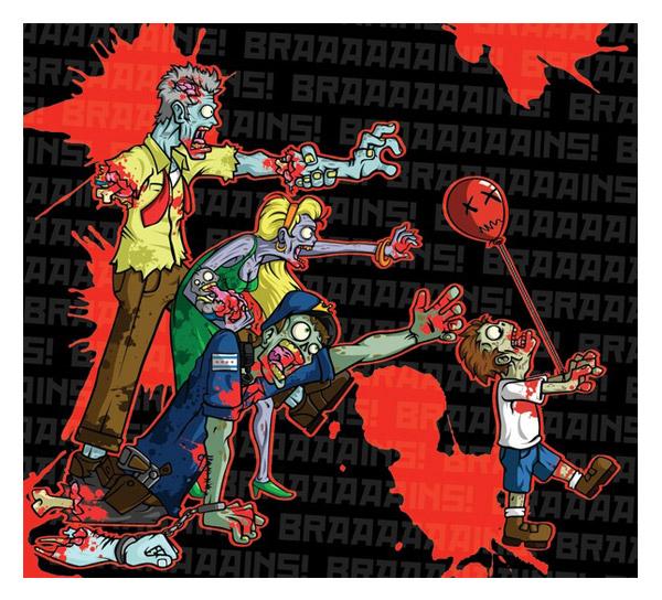 Zombie Headphones by Jesse Sanz