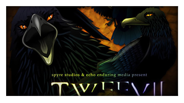 Free Vector Illustration Set: Tweevil, The Dark Twitter Bird