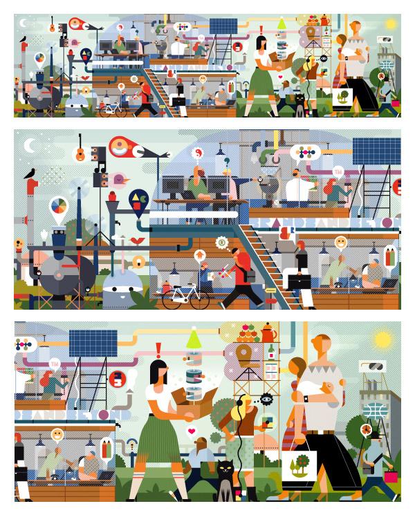 Kolchommercial: Branding website (banner illustration) by Sam Vanallemeersch
