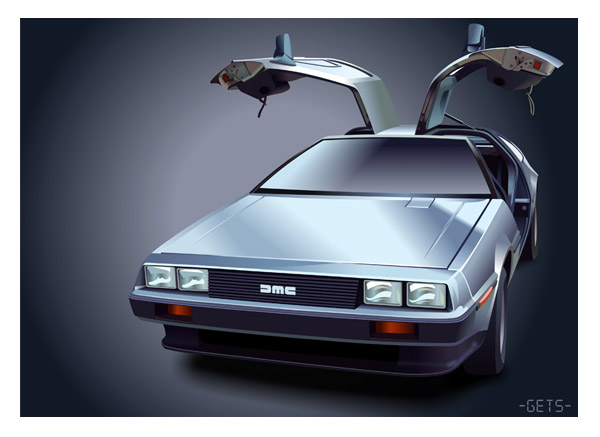 DMC Delorean vector by NeoGets