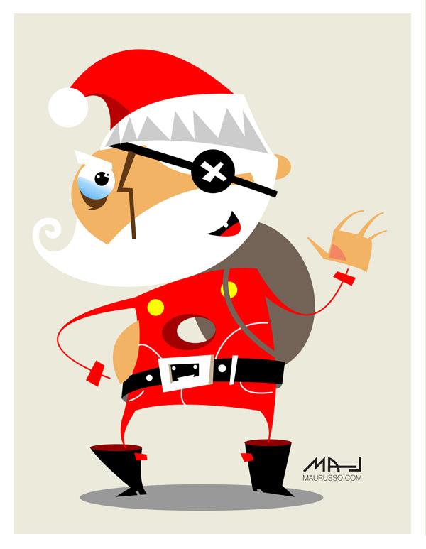 Hole Santa Claus by Mau Russo