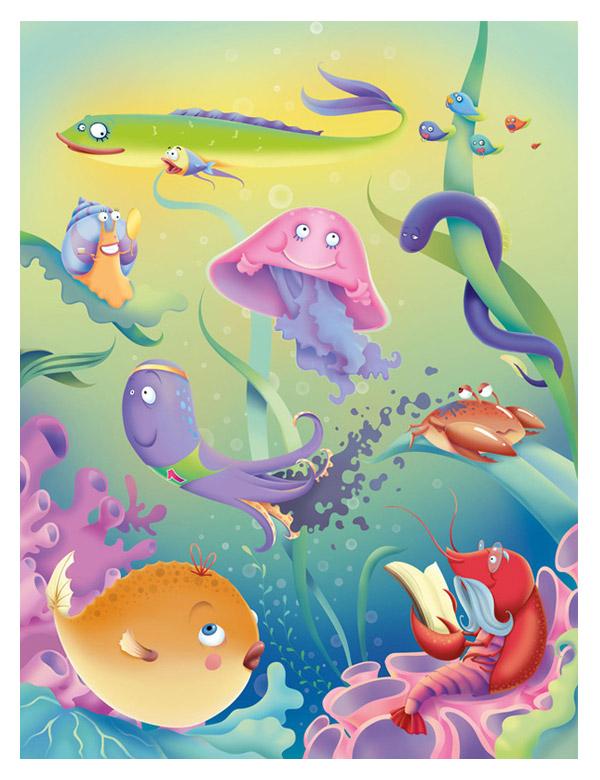 Poznayko magazine illustration by Natalya Gaida