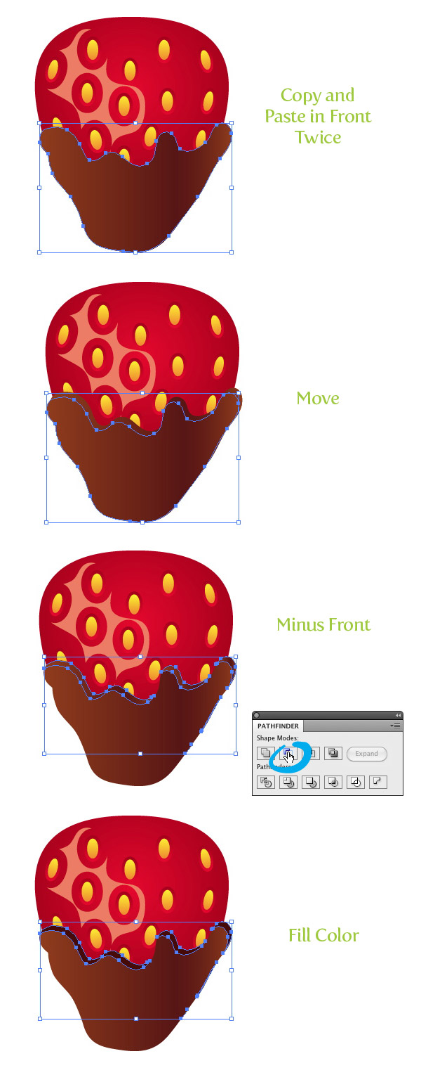 chocolate covered strawberry vector