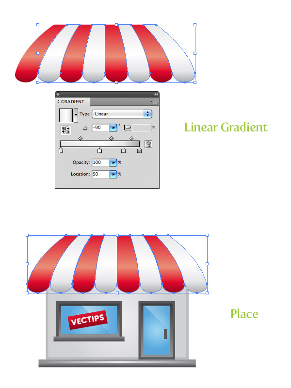 create a storefront vector icon