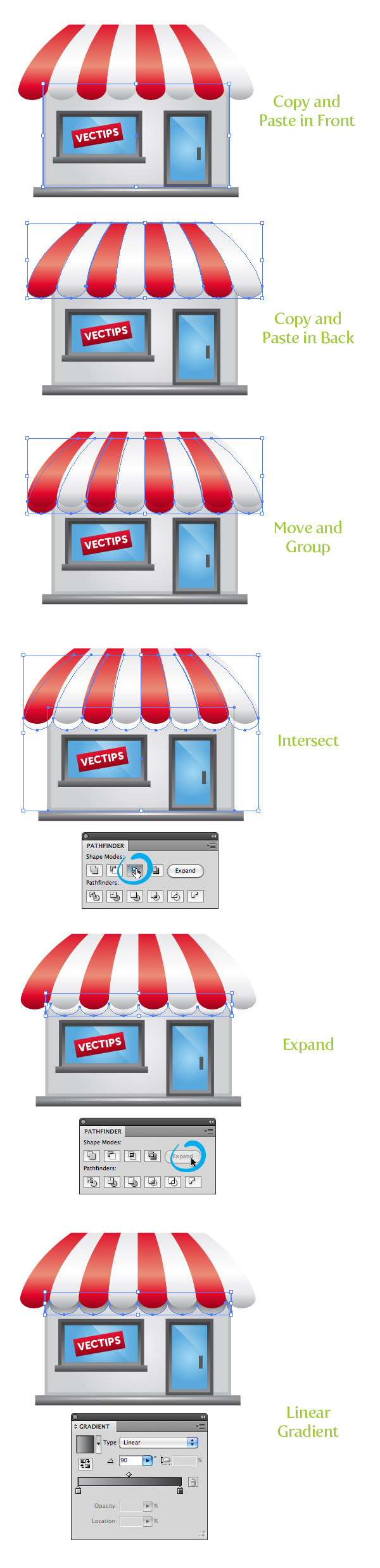 create a storefront vector illustration