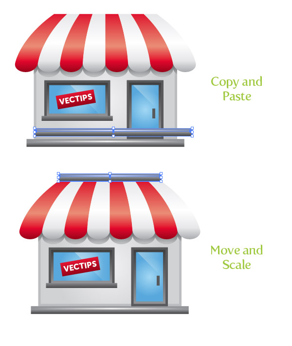 create a storefront illustration