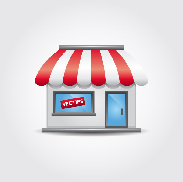create a storefront icon using adobe illustrator