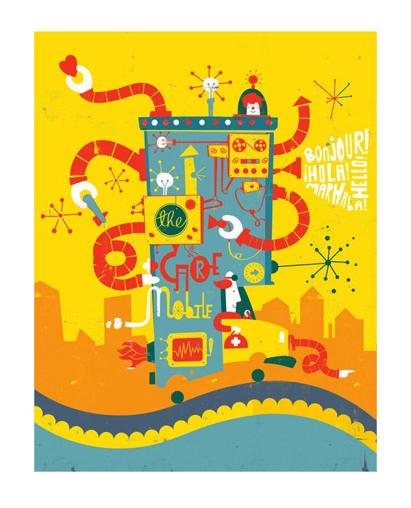 CareMobile Illustration by Shaw Nielsen