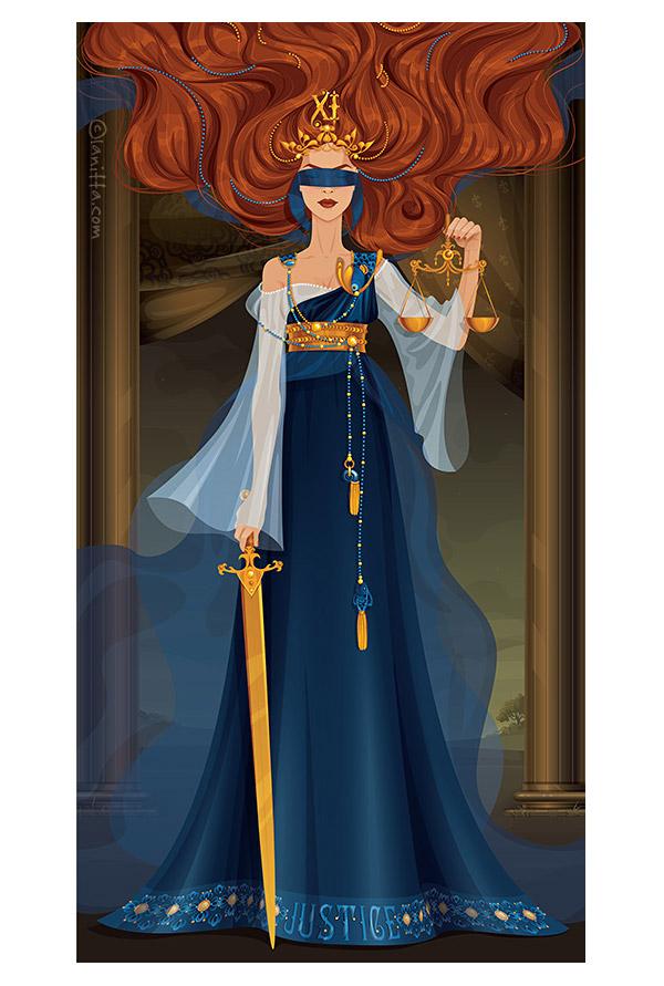 Tarot Justice by Svetlana Makarova