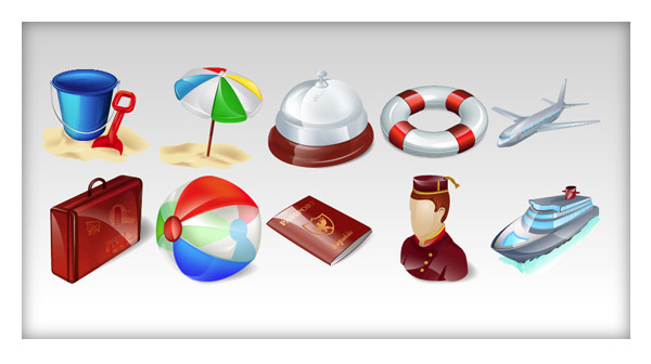 Free Travel Icons from IconShock